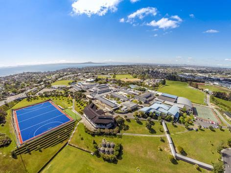 Aerial photo Rangitoto College klein