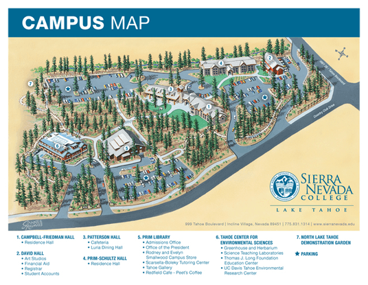 SierraNevadaCollege Campus Map