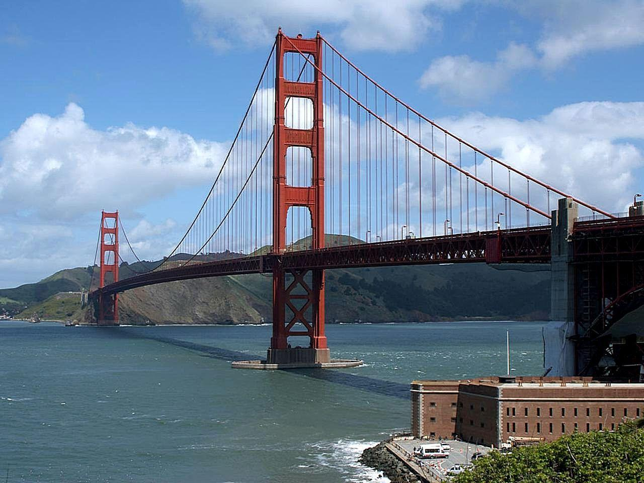golden gate bridge and fort point in san francisco